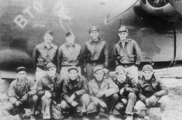 <b>S/Sgt Myrl Graham is bottom second from the right</b><br> B-24 42-52326 BTO