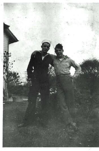 Rudy on right with unknown
