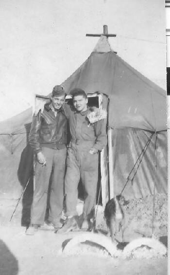 Rudy on left with tent mate
