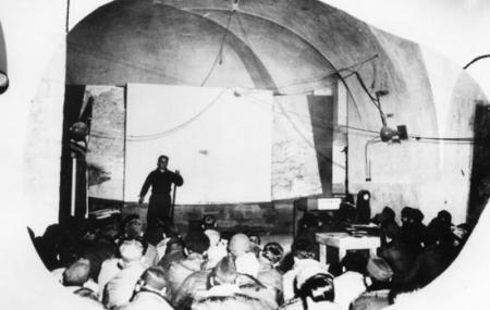 459 BG Briefing in Winery Building 1944