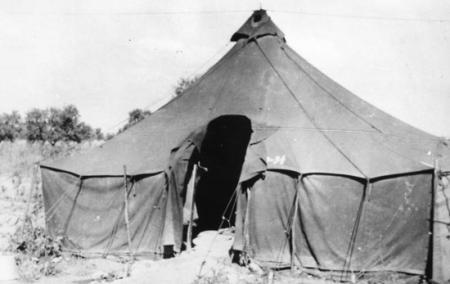 759 BS Unimproved tent prior to winter,1944