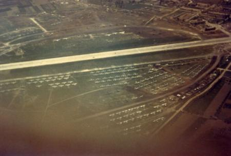 Castigliano Air Field near Naples-Notice Number Of Aircraft at Airdrome-1945