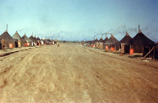 759 BS Officer`s Tent Row 1944