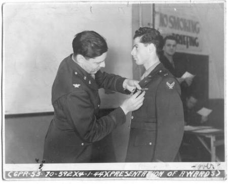 Lt. Layton receiving DFC