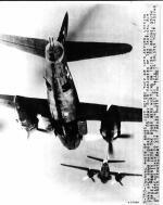B-26 Over Florence in act of dropping Bombs 1944
