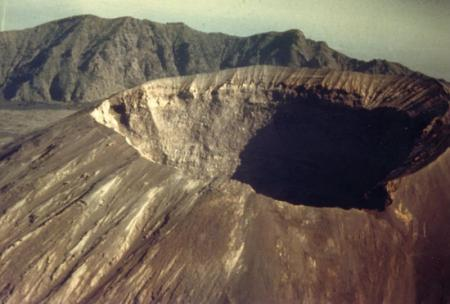 Mt Vesuvius Crater near Naples1944-  Notice no vapor from Crater--.Vesuvius did Erupt in 1944--See photos else where on this site