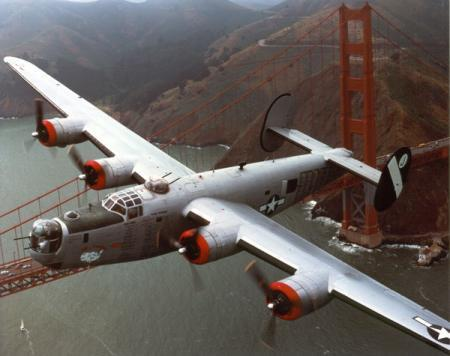 B-24 over Golden Gate