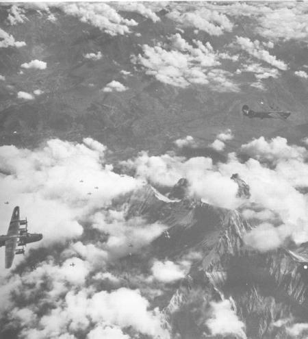 455th BG over Alps