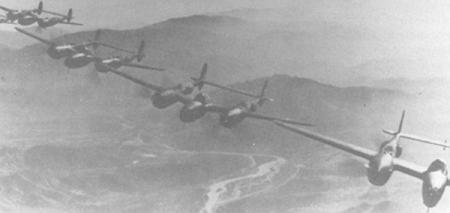 455th BG P-38 escorts