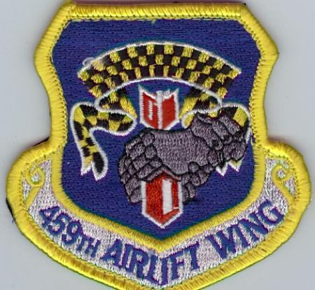 USAF 459th Air Lift Wing Patch-2004 Later converted to Air Fuel Wing-Continuation of WWII 459th Bomb Group