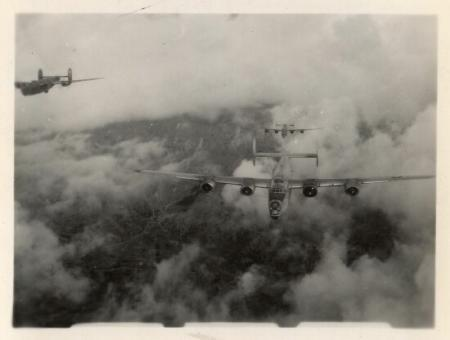 B-24's over target