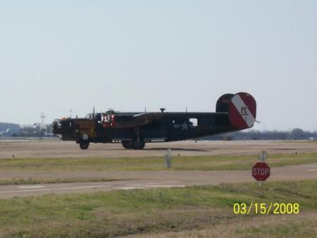 Collings' B-24 readies for take off