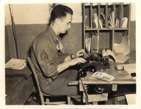 Public Relations Specialist for 758th BS, April 1945 - Italy