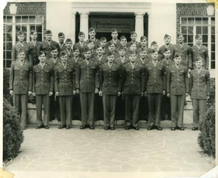 Cyril's Basic Training Squadron at graduation - Cryil front row far left