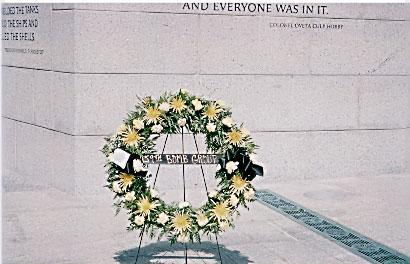459th BGA  Reunion at WWII Memorial Wreath 1 September-2004