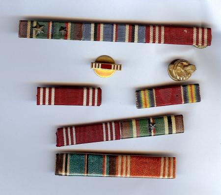 Europe-Africa-Middle East Medal, American Campaign Medal, Good Conduct Medal and Victory Medal World War II
