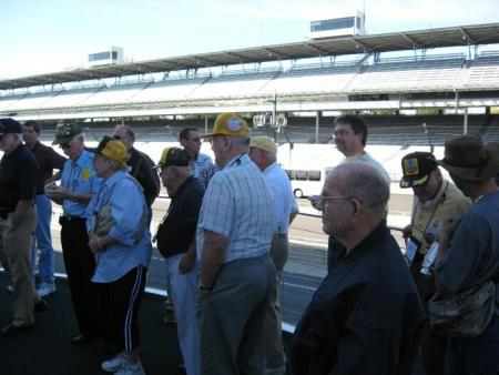 The group on the tour at Indianapolis Motor Speedway