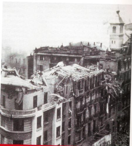 Hotel Bomb Damage by Air Raid