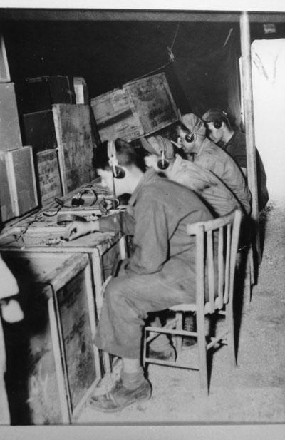 459 BG Headquaters Radio Operators at work,1944
