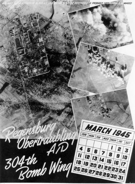 459th BG Mission 190  2-16-45 Regensberg, GR A-D