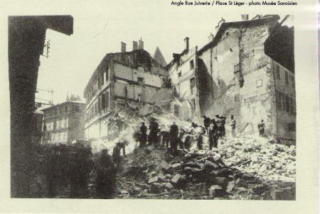 More damage within the city