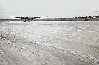 Giulia Field-758 BS B-24 Landing after Combat Mission-1944