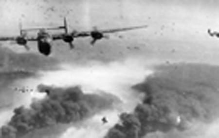 759th BS B-24s Rallying from target