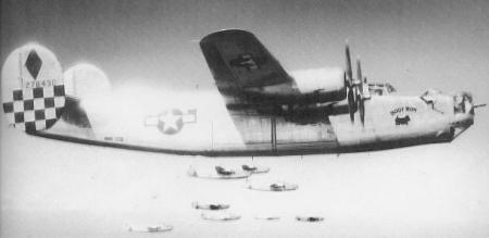 758 Bomb Squadron One of Captain Billy Warren`s Favorite B-24 Ships- Hoot Mon, 1944