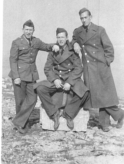 A/C Billy Warren with Two Buddies, 1943