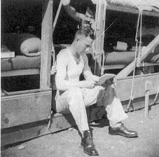 Aviation Cadet Billy Warren in Barracks during Pilot Training-1943