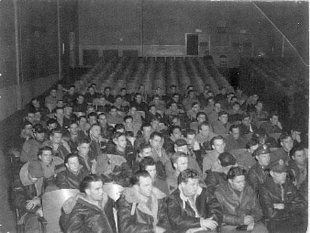 459th Bomb Group Mission Briefing Before Mission Held in Old Winery Building (Also used as Chapel) ,Giulia Field ,1944
