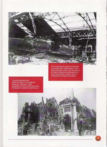 Bomb damage caused by air raid.