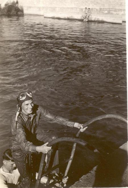 Lt. Samuel Layton in water survival training