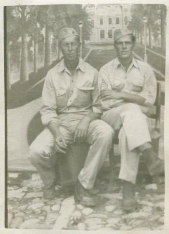 R E Neal and B E Tabor-758 BS Groundcrewmen