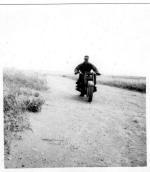 Dad on the old BMW motorcycle