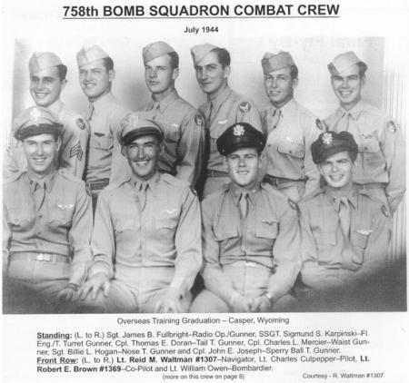Lt. Charles Culpepper Crew 758th SQ