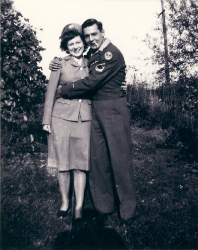 Rudy and sister Mary Ann - 459th BG, Army Air Corps Library and Museum