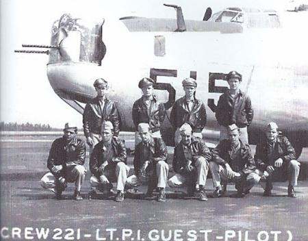 Sgt James B Holvey, waist gunner, is shown as kneeing, third from left - 459th BG, Army Air Corps Library and Museum