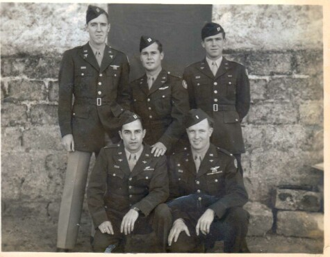 Flight Surgeon Capt. Melvin Pennell is standing far left. - 459th BG, Army Air Corps Library and Museum