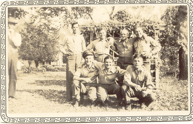 Carl is kneeling front left with the crew he trained with in the states. - 459th BG, Army Air Corps Library and Museum