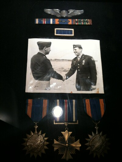 Ceremony for award of DFC - 459th BG, Army Air Corps Library and Museum