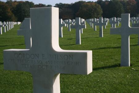 American Cemetery of Neupre, Neuville-en-Condroz, Belgium - 459th BG, Army Air Corps Library and Museum
