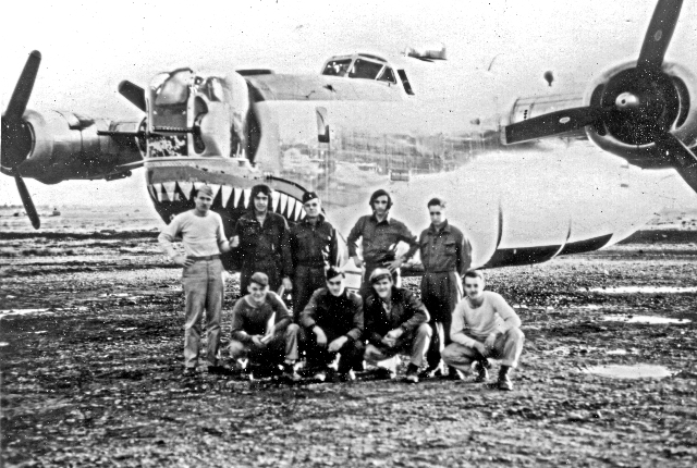 John Daniels front row - far left - 459th BG, Army Air Corps Library and Museum
