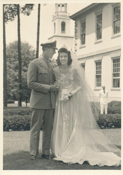 Wedding Day, July 8, 1944 Atlanta  - 459th BG, Army Air Corps Library and Museum