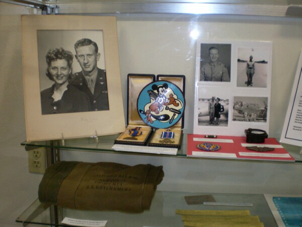 Photo of Lt Donald K Kilgore's exhibit at the Tillamook Air Museum  - 459th BG, Army Air Corps Library and Museum
