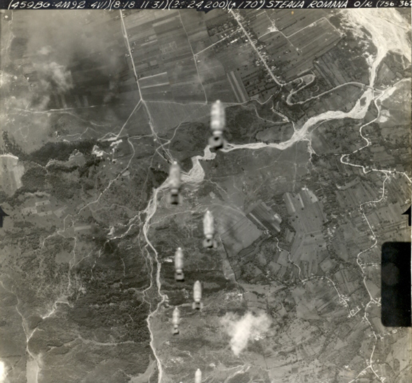 <p> Mission No.91 on 8-18-44 was another mission to the Ploesti Romania Oil Refinery Complex to knock out Germany`s oil supplies. This was a concerted effort to repeatedly bomb this important German oil source by high level daylight formation bombing by Bomb Groups of the 15th AF. 459th Bombardment Group Mission to Ploesti Romania O-R  on 08/18/1944