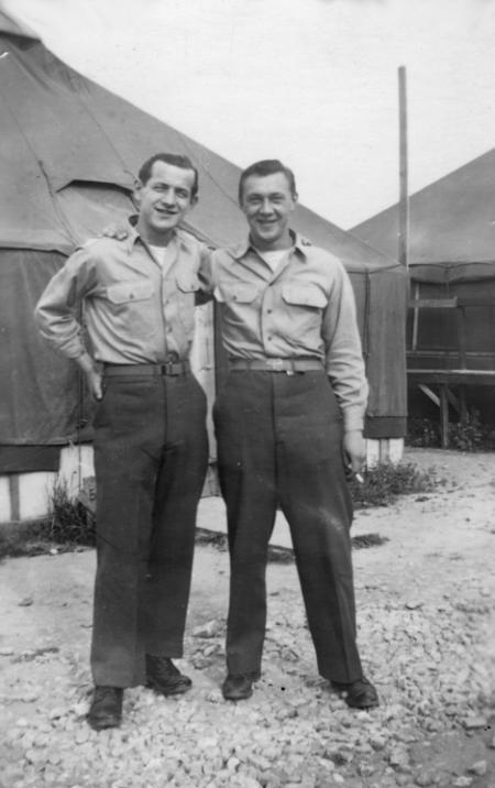 Cpl. Kachura on right - 459th BG, Army Air Corps Library and Museum