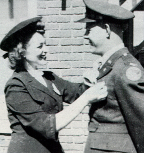 Lee Tice Pins on George's Wings - 459th BG, Army Air Corps Library and Museum