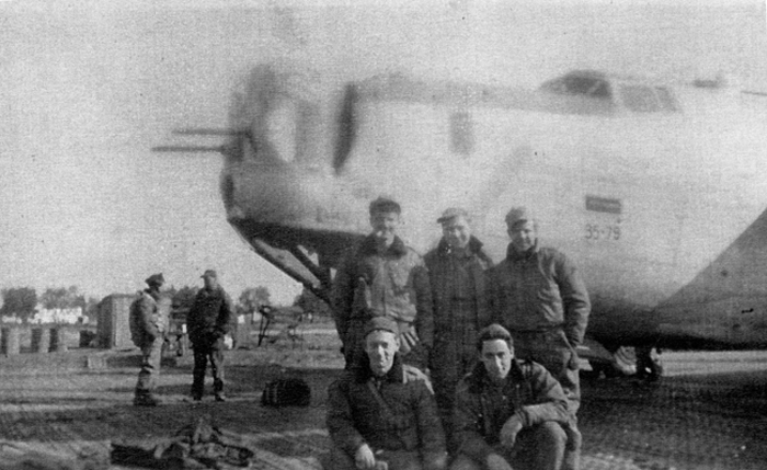 Lt Clarence Loebel`s crew photo prior to 459 BG Mission No 191, February 17, 1945 to Graz, AU but bombed Austetten, AU that day. - 459th BG, Army Air Corps Library and Museum