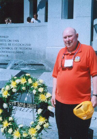 Reid Waltman at the WWII Memorial - 459th BG, Army Air Corps Library and Museum